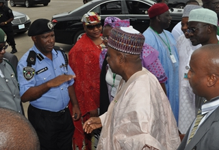 Arrival of the Nigerian Vice President, Alhaji Mohammed Namadi Sambo for Official Opening Ceremony of the Trade Fair