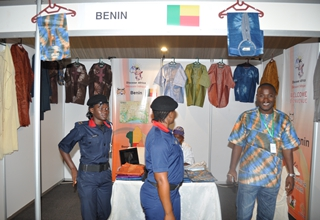 Benin Republic stand at the trade fair