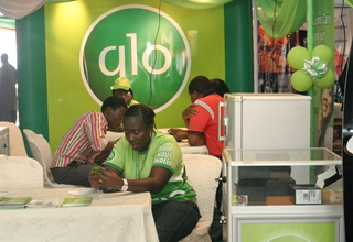 Glo stand at the trade fair