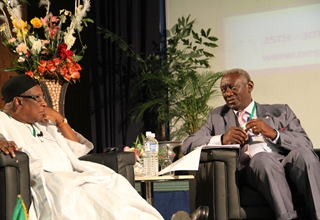 H.E. Dr. Tukur & H.E. John Kufor at the BIF on Africa
